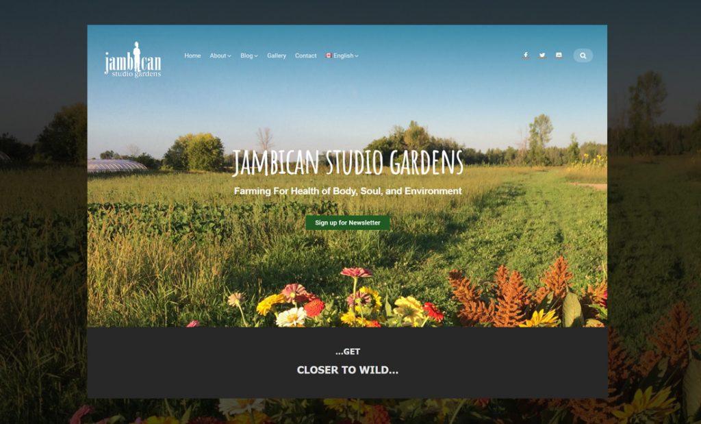 Jambican organic farm homepage banner