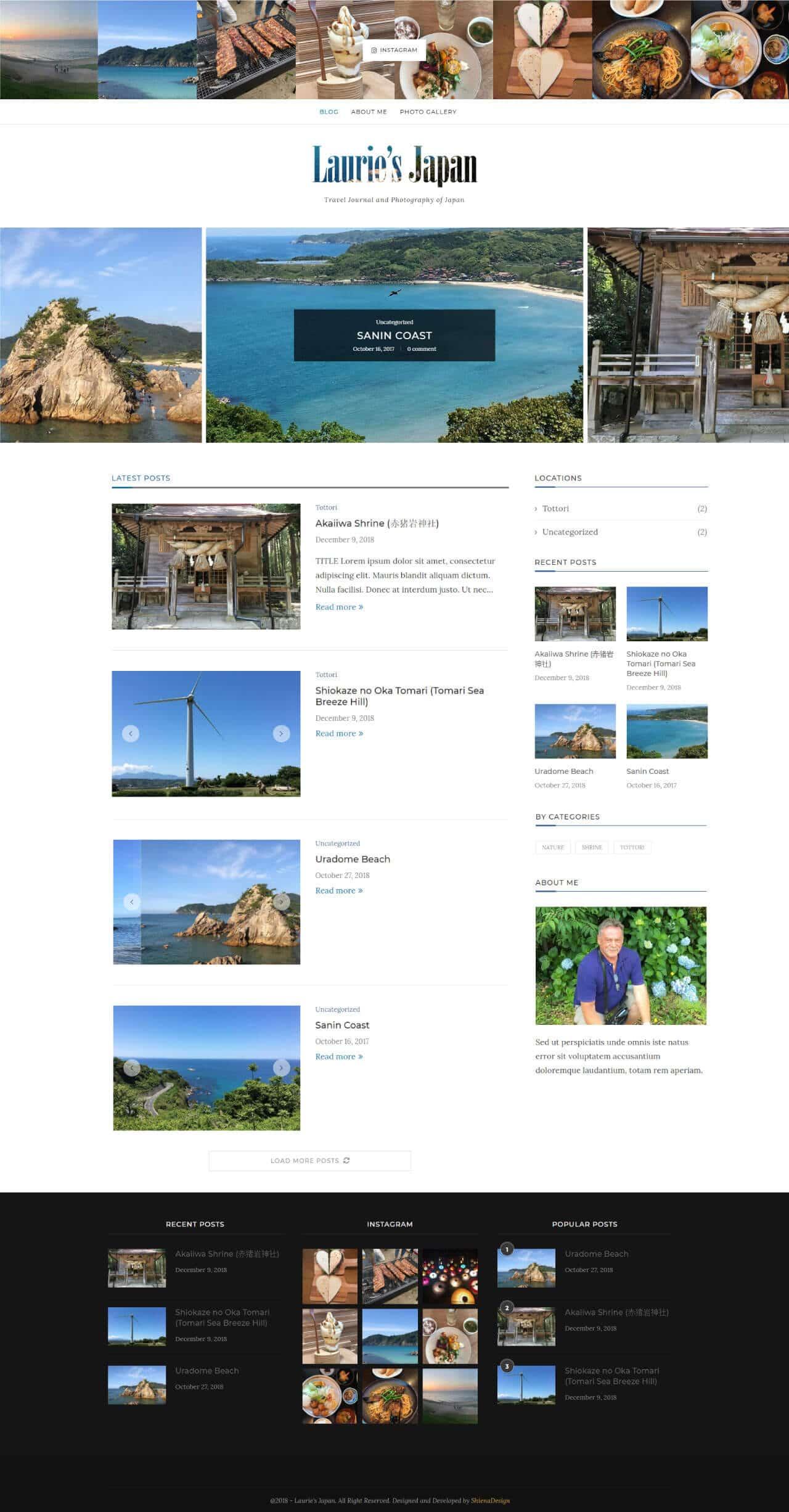 Lauries japan sample homepage