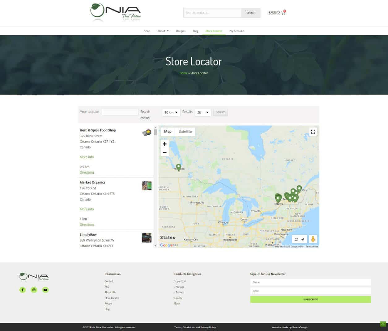 Nia Pure Nature shop location & hours demo