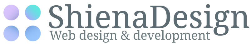 ShienaDesign web design & development Logo in light blue