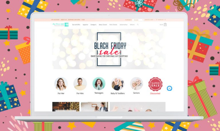 myclevergift.com Black Friday website design