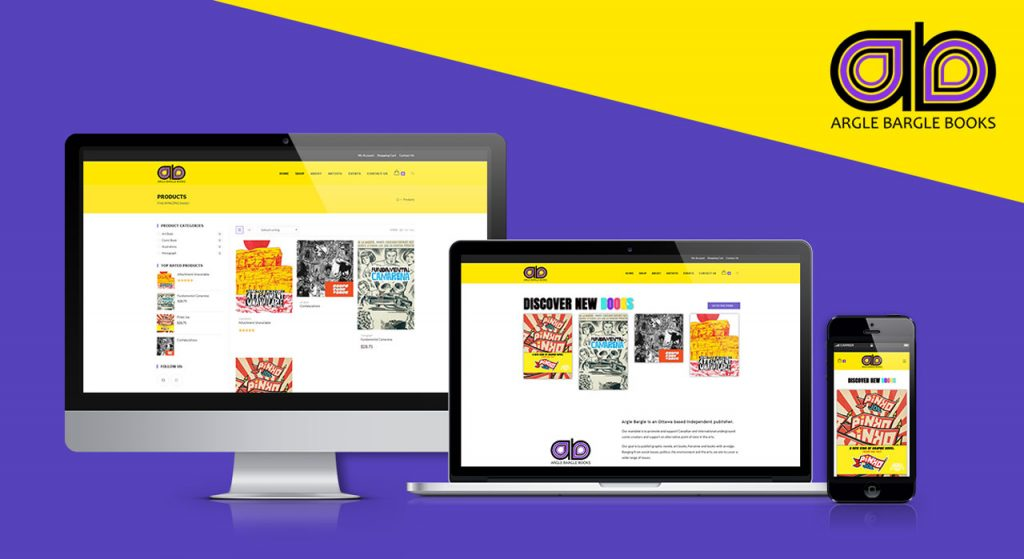 Arglebarglebooks.com's home page demo on mobile devices