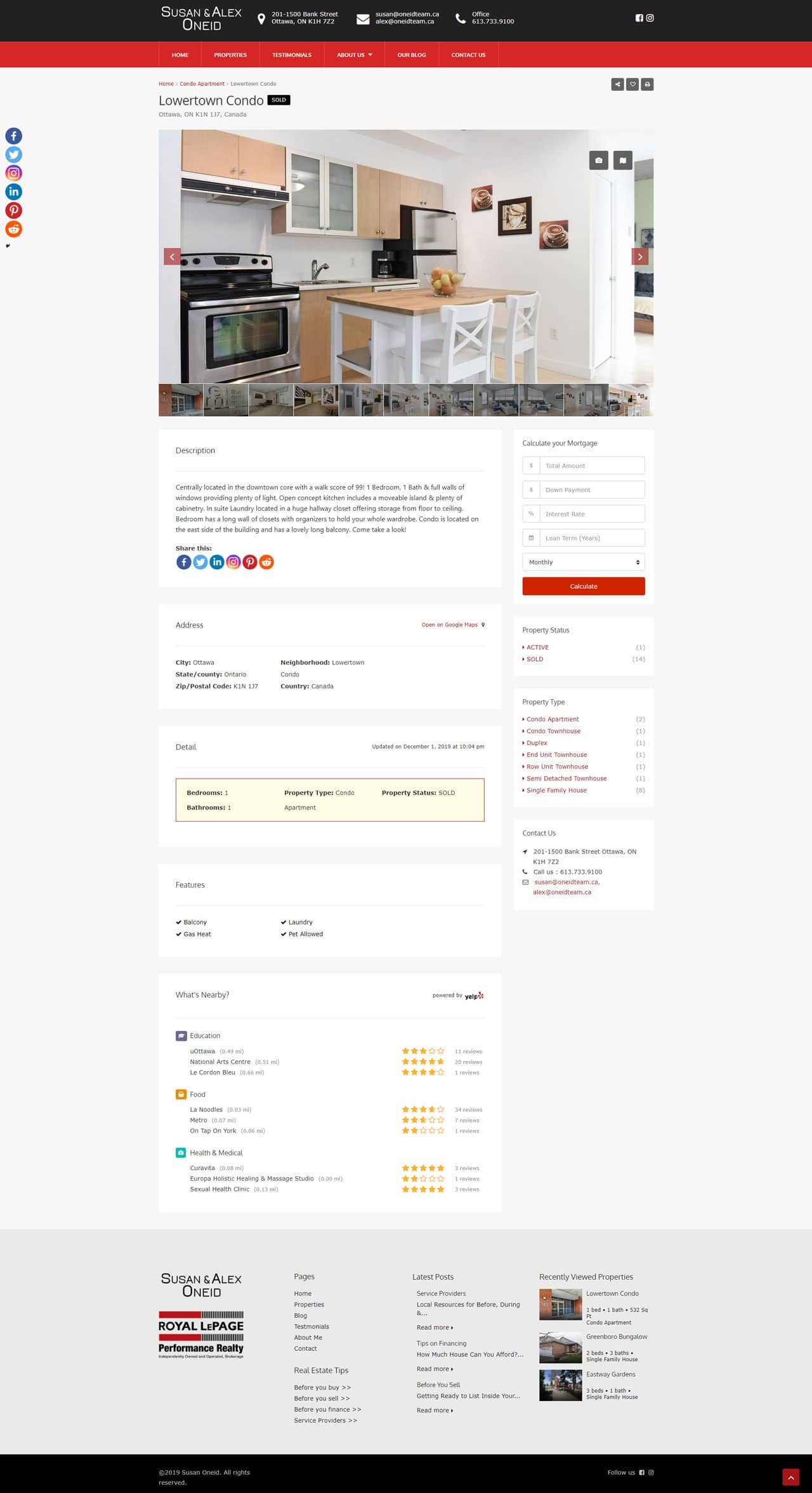 oneidteam.ca's property detailed page demo