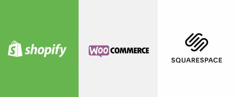 Shopify, woocommerce & squarespace comparison