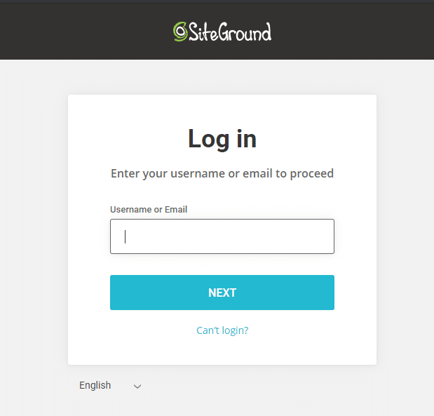 siteground login prompt